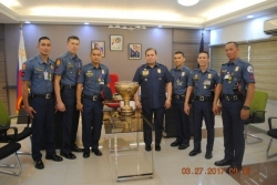 Courtesy Call from  member of PNP Team UNTV Cup Champion