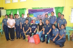 Some PSPG Personnel Conducted Gift Giving with Miss Nancy L Leonard, Former Miss Philippine Earth-Air